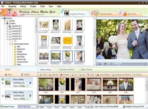 themes for wedding album maker gold how to use wedding album maker gold