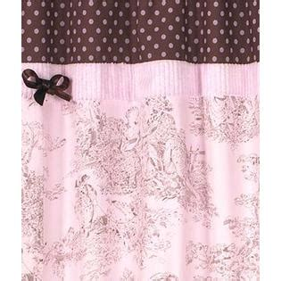 Pink And Brown Shower Curtain by Sweet Jojo Designs Pink And Brown Toile Collection Shower