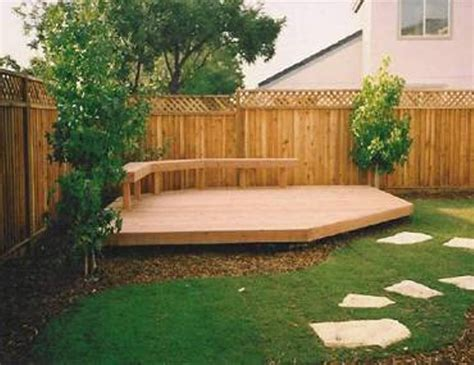 Landscaping And Outdoor Building Backyard Decking Small Garden Decking Ideas