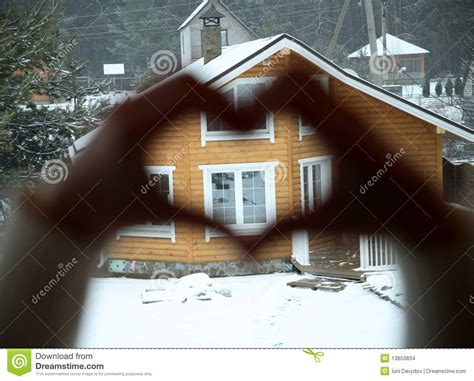 heart house windows hands made form of heart and house on window stock images image 13853834