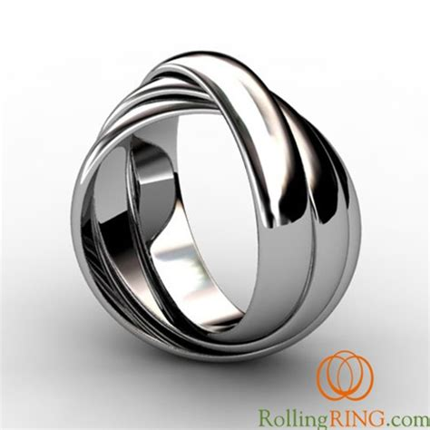 sterling silver thick rolling rings