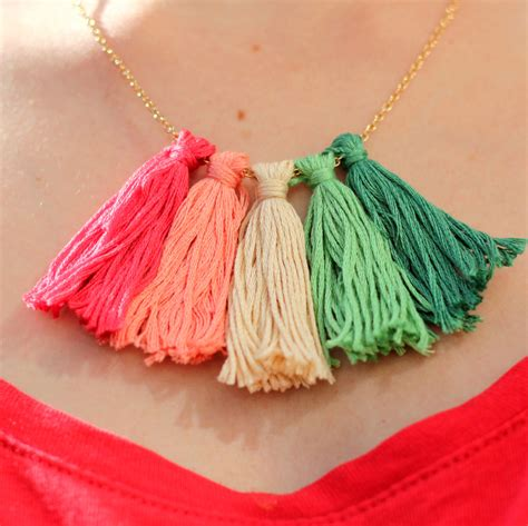 how to make tassels for jewelry how to make a tassel necklace hobbycraft
