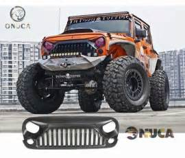 Jeep Angry Grill Matte Black New Front Grille Angry Bird Upgrade Fit For