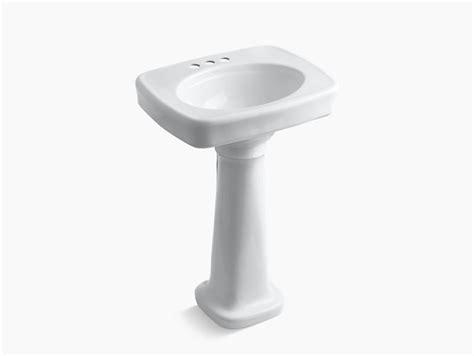 kohler bancroft pedestal sink bancroft pedestal sink with 4 inch centers k 2338 4 kohler