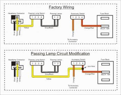 rewire passing lights harley davidson forums