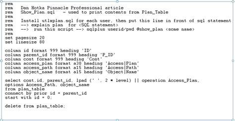 tutorial oracle explain plan understanding oracle explain plans