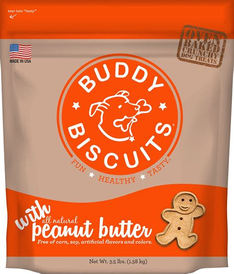Buddy S Kitchen Treats by Buddy Biscuits With Peanut Butter Oven Baked Treats 3