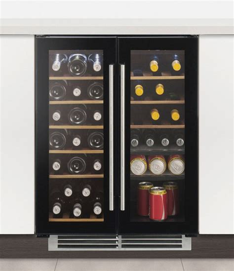built in wine cooler cabinet caple wi6227 sense integrated under counter dual zone two