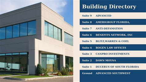 building directory template professional digital signage templates signagecreator