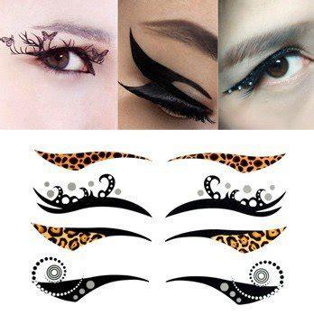 8pairs cat temporary eyeliner eyeshadow sticker eye tattoo aliexpress com buy 10pcs lot eye shadow stickers