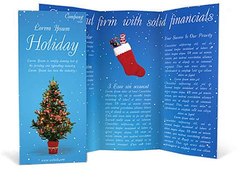 christmas holiday brochure template design id 0000000759