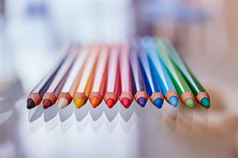colored for multi colored pencils white background 183 free stock photo
