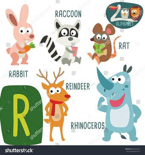quot animals zoo alphabet with animals u zoo alphabet in vector r letter