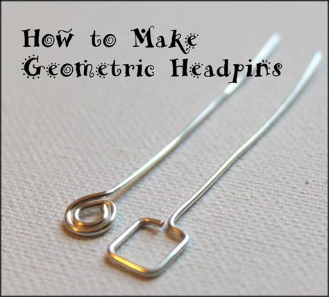 how to make sted metal jewelry diy bijoux how to make geometric headpins wire