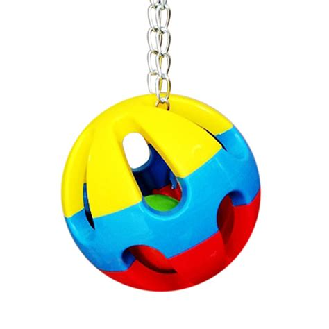 swinging ball toy pet bird bites toy parrot chew ball swing cage hanging