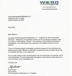 Thank You Letter To A Pastor Word International Frankfurt