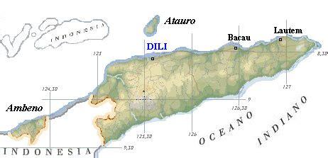mappa timor est cartina