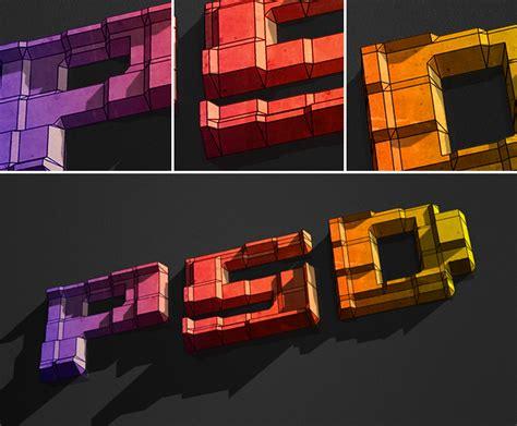 idea design bg how to create 3d text blocks in photoshop
