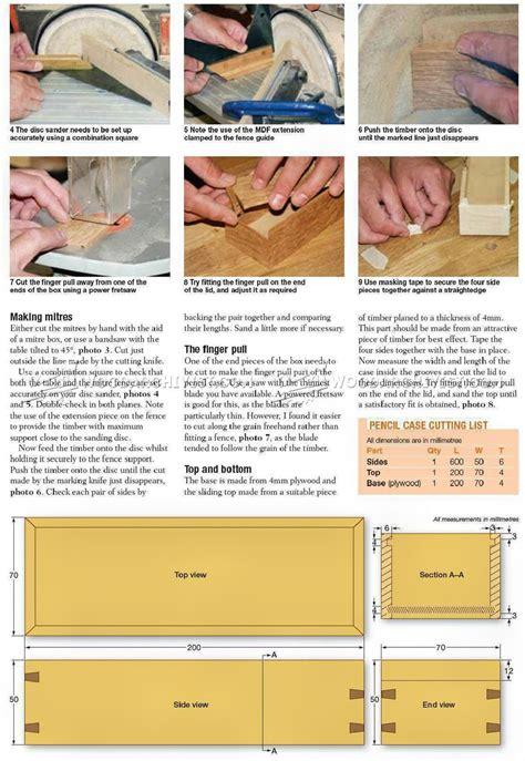 wooden pencil case plans woodarchivist