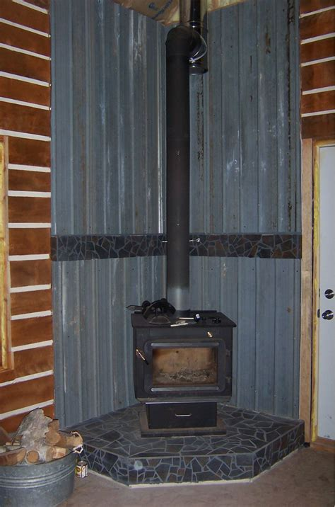 Wood Stove In Cabin by Small Cabin Wood Stove Setup Small Cabin Forum 3