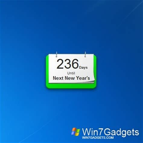 Calendar Days Counter Day Counter Windows 7 Desktop Gadget