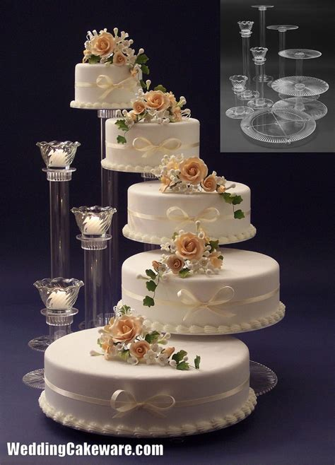 Wedding Cakes Stands by 5 Tier Cascading Wedding Cake Stand Stands 3 Tier Candle