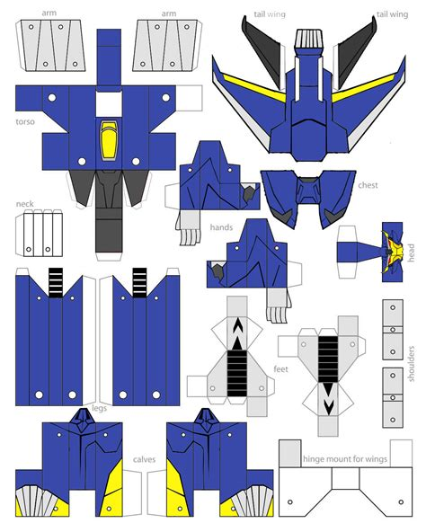 Papercraft Ornaments - paper robot templates on hako papercrafts deviantart