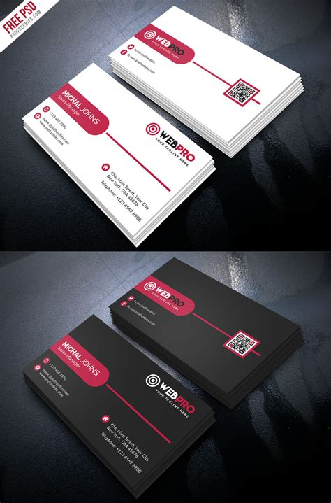 modern business cards template corporate modern business card psd template set
