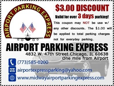 airport parking midway chicago coupon