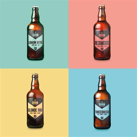 bottle label design uk grain brewery logo design brand identity norwich
