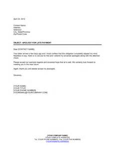 Business Apology Letter For Delay In Payment Friendly Apology For Late Payment Template Sle Form