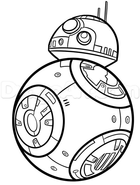 Bb8 Drawing Outline how to draw bb 8 step 7 wars coloring elephants and how to draw