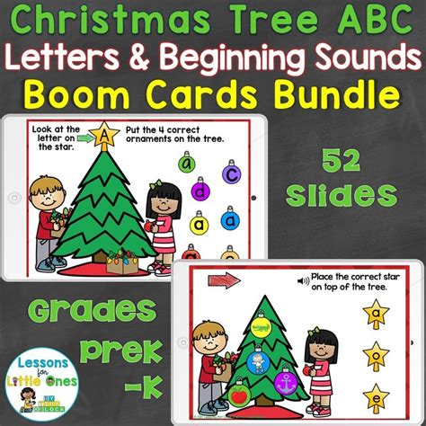 list of christmas gifts beginning with the letters of alphabet tree letters beginning sounds bundle lessons for ones by tina o block