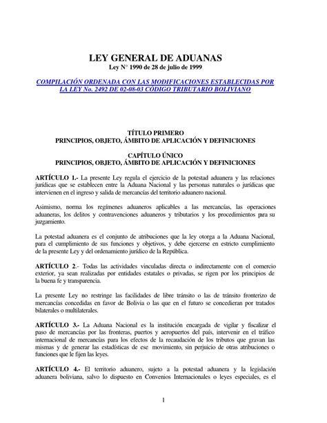 declaracion jurada para regimen aduanero ley general de aduanas bolivia by herbasbol agencia