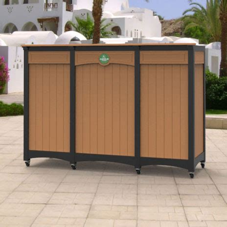 portable bars for golf courses in durable recycled plastic