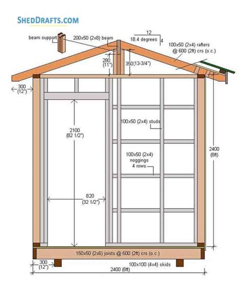 outdoor shed building plans blueprints  tool shed
