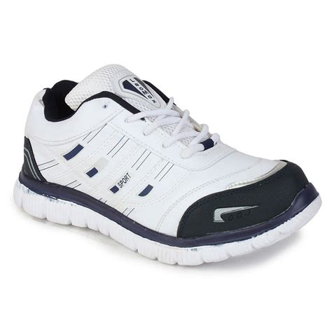 buy branded white blue sports shoes gbs03 at