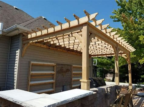 serenity cedar pergola kit wall mounted in 2019 home