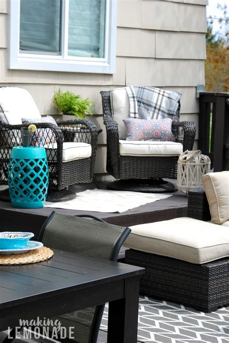Patio Furniture Makeover by Deck Refresh Outdoor Living Update Lemonade