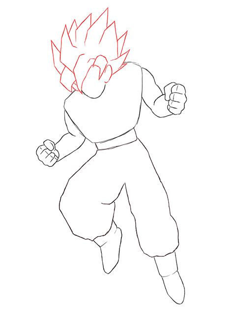 Drawing Goku by How To Draw Goku Drawing How To Draw Goku Draw Central