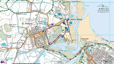 printable road map of isle of wight down on the duver national trust
