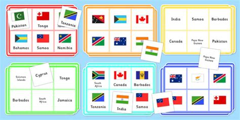 flags of the world game instructions the commonwealth flags bingo the commonwealth flags bingo