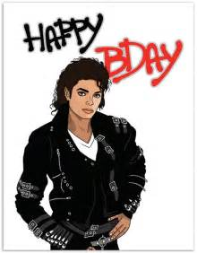 item 889 michael jackson birthday card make it bad