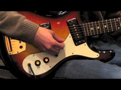 how to make flier 1970s univox hi flier phase 2 electric guitar youtube