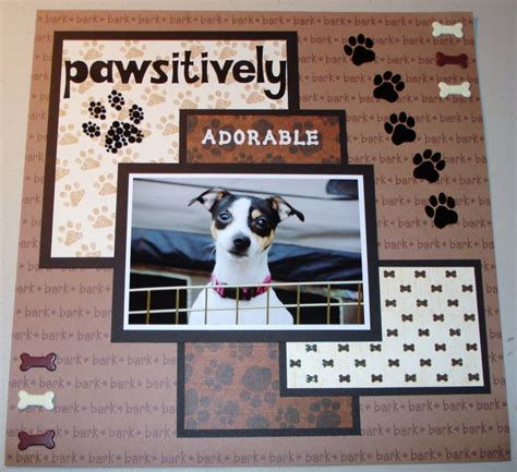 layout paper en español pawsitively adorable those little doggie bones are too