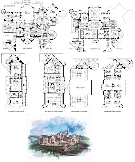 Mansion Floor Plan By Shippo Lover On Deviantart Blueprint Of Mansion House
