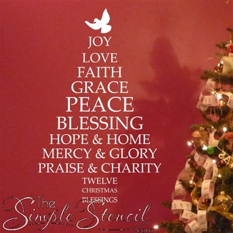 image of winters blessing christmas tree blessings tree custom vinyl stickers letters graphics