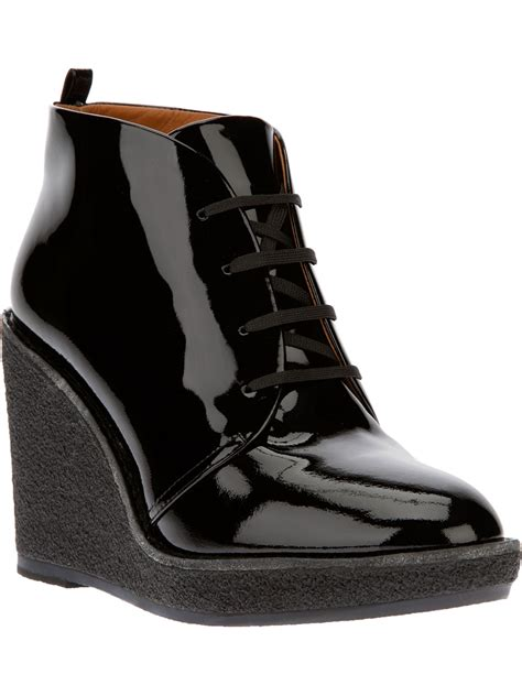 marc by marc laceup patent wedge ankle boots in