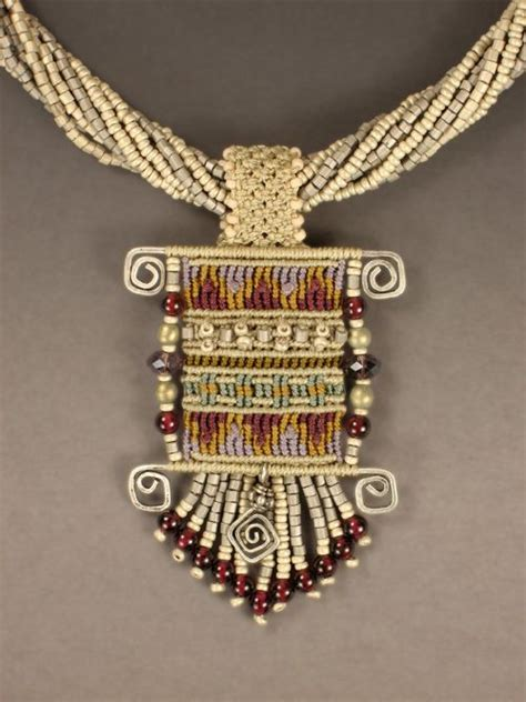 Cavandoli Macrame Patterns - inspiration micro macrame and wire work necklace by joan