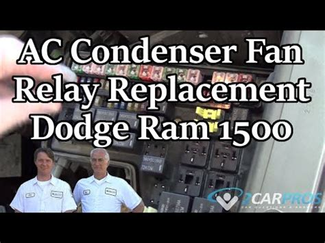 ac condenser fan relay replacement dodge ram 1500 2001